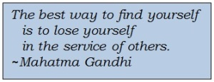 find yourself in service